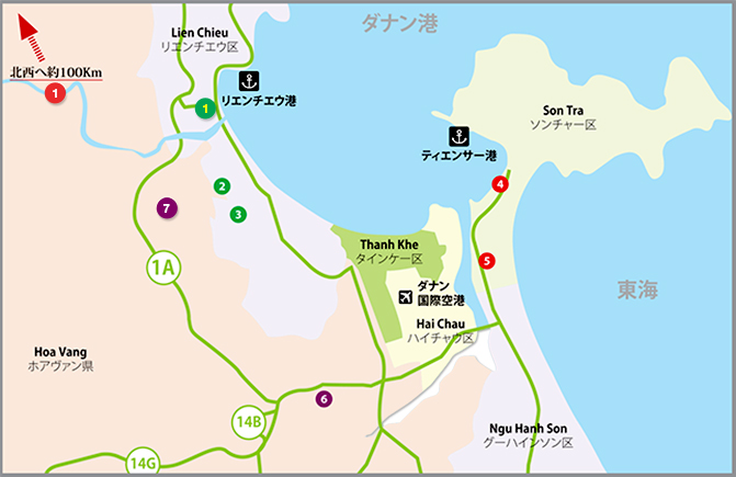 Map Vietnam Industrial Park Middle